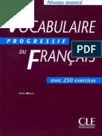 Vocabulaire Progressif Du Francais Avance