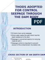Methods Adapted for Control Seepage Throgh the Dam