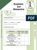 1er Grado - Examen Bloque 1 (2017-2018)