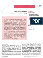 Sweet Regulation of Human Glucocorticoid Receptor Transcriptional Activity