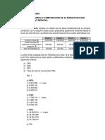 Ejercicios de Repaso Evaluacion Economica y Comparacion de Alternativas Que Producen El Mismo Servicio