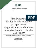 Educacion Para Pacientes Con IAM