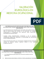 Valoración Neurológica en Medicina Ocupacional