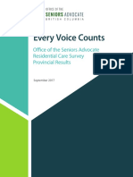 BC Seniors Advocate survey results
