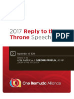 2017 Reply to the Throne Speech