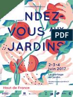 Rendez-Vous Aux Jardins 2017 - Hauts de France