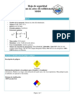 Nitrato de Cobre II Trihidratado hoja
