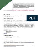 Conectorización SC en Frío Con Epoxy y Fibra Multimodo