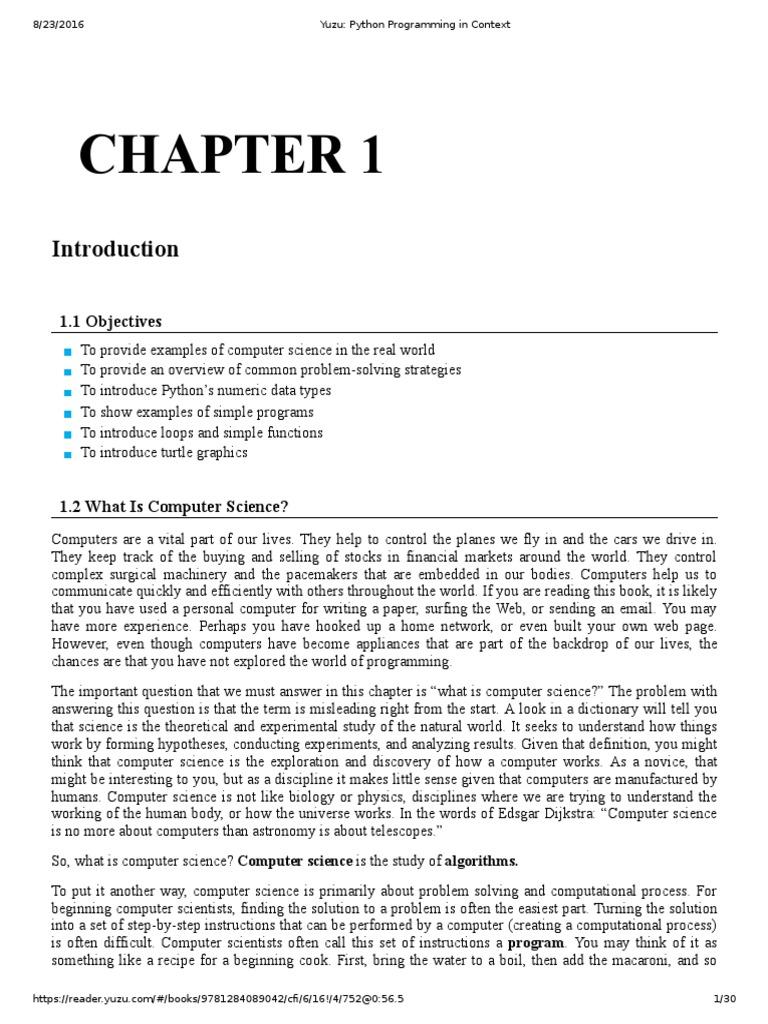 Python Programming in Context   Division (Mathematics)   Python