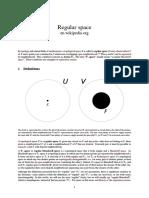Regular Space