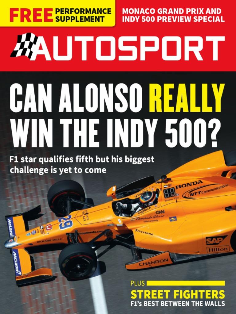 Autosport May 25 2017 Indianapolis 500 Formula One