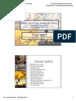 Building Economics, Quantity Surveying, And Cost Estimation - 2017