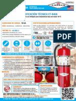 Ficha Tecnica Extintor Amerex PQS ABC (10 Lb.) Modelo B456 13 May 2017 JW