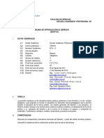 i - Silabo - Malla a - Eeaf101 - Int Al Derecho - 2013 II