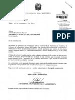 Solicitud Del Pr Para Que La an Apruebe El Convenio de Cooperacion Entre Ecuador y Uruguay Para La Proteccion Conservacion Recuperacion y Restitucion de Bienes Del Patrimonio Cultural y Natural 14-11-2014