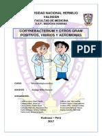 Corynebacterium y Otros Gram Positivos, Vibrios y