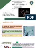 Relación Estructura Actividad de Macrolidos