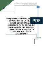 "SEPARADORES PARA EXPEDIENTES TECNICOS ""TRABAJA PERU"""