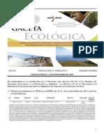 Gaceta ecológica de la Semarnat donde se informa del proyecto