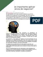 Por Qué Es Importante Aplicar La Inteligencia de Negocios