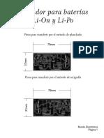 Cargador Para Baterías Li-On y Li-Po