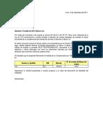 Modelo Carta de Traslado Cts