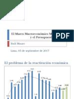 El Marco Macroeconómico Multianual y El Presupuesto Público 2