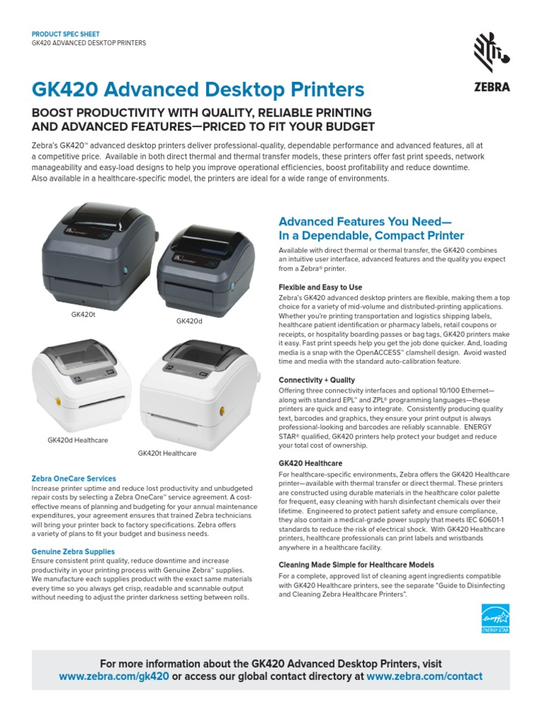 Advanced Desktop Datasheet en Us | Printer (Computing