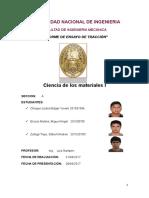 Informe Nº 2 - Ensayo de tracción - MC114 A