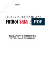 Reglament Intern Futbol Sala Torribera