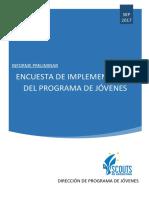 Informe Preliminar Encuesta de Implementacion de Programa de Jóvenes - 2017