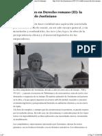 Codificaciones en Derecho Romano (II)_ La Compilación de Justiniano