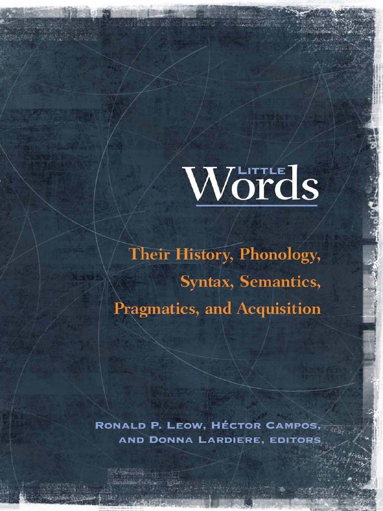 Ronald P  Leow, Hector Campos, Donna Lardiere Little Words