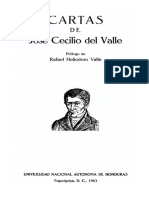 Cartas Familiares de Jose Cecilio Del Valle