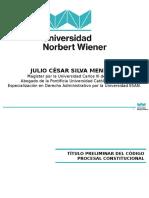 3 Derecho Procesal Constitucional - TITULO PRELIMINAR DEL CPC