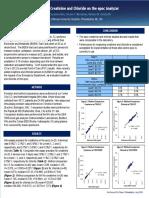 Performance of Creatinine and Chloride on the Epoc Analyzer