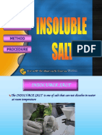 8.1 (c) Insoluble Salts
