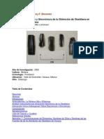 Obsidiana Mixteca Alta Analisis Diacronico