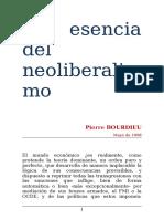 Bourdieu. Neoliberalismo