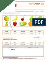 Worksheets Fruit