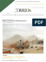 Ráfagas de Viento Corren a 25 Kilómetros Por Hora _ Diario Correo Del Sur_ Noticias de Sucre, Bolivia y El Mundo