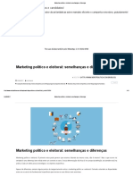 Marketing Político e Eleitoral_ Semelhanças e Diferenças