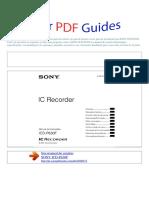 Manual Do Usuário SONY ICD P630F P