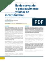 Desarrollo de Curvas de Deterioro Para Pavimento Flexible y Factor de Incertidumbre