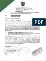 Solicitud Del Pr Para Que La an Apruebe La Denuncia Del Acuerdo Para La Promocion y Proteccion Reciproca de Inversiones Entre El Reino de Espana y La Republica Del Ecuador 07-05-2013 t. 135810