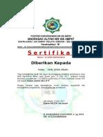 sertifikat peringkat kelas