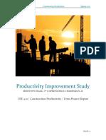 productivity improvement study