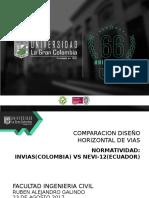 Comparacion de norma vial INVIAS y Nevi-12