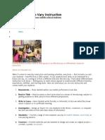 Fifteen Ways to Vary Instruction
