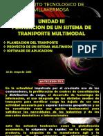 Sistemas de Transporte Unidad III Transporte Multimodal 2015 RESUMEN